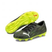 Puma Ultra 2.2 FG/AG Jr. Fussballschuh Black Yellow Alert
