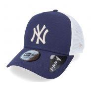 New Era Snapback Diamond Trucker New York Yankees - Blau, Weiss