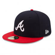 New Era 59Fifty ATL Braves Cap Blau-Rot