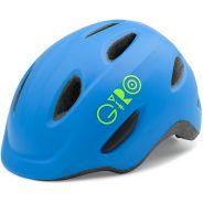 Giro Scamp Mat Blue-Lime 18 Kinder Helm