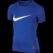Nike Cool HBR Compression Kids Shirt Blau