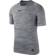 Nike Pro SS Comp HTHR Top Grau