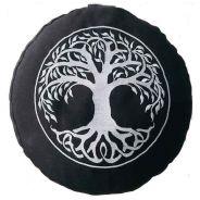 """deuser® yoga kissen mit Stickerei """"Lebensbaum"""""""