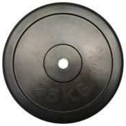 Gummierte Ø 30mm Gewichtsscheibe 25 kg