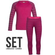 icebreaker Kinder Oasis 200 Funktionsunterwäsche Set pink