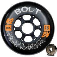K2 Bolt 90mm / 85A - 8er-Rollenset inkl. ILQ-9 Kugellager + Spacer