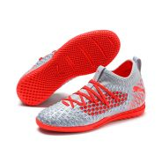 Puma Future 4.3 Netfit IT Hallenschuh Jr Silber Rot