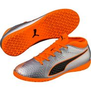 Puma One 4 Syn IT Jr Silber Orange