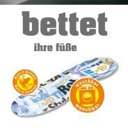 SUNBED® SIX 6-Zonen Fußbettung Einlegesohle Schaumfussbett Einlage
