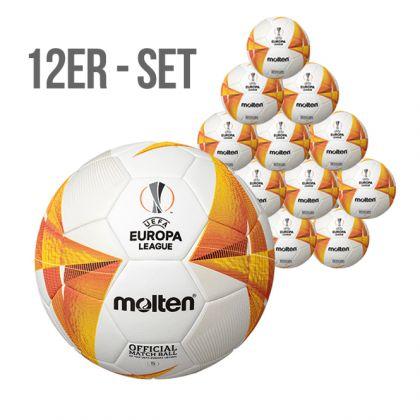 12er SET - Molten UEFA Europa League - offizieller Wettspielball 2020/21