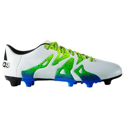 Adidas X 15.3 FG AG Weiß Grün Blau   Trends Sport Langfristiger Ruf