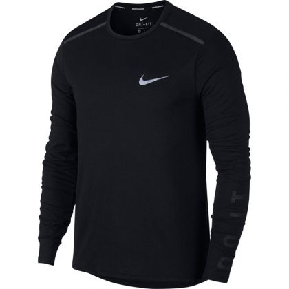 Nike Breathe Rise Running Top Schwarz