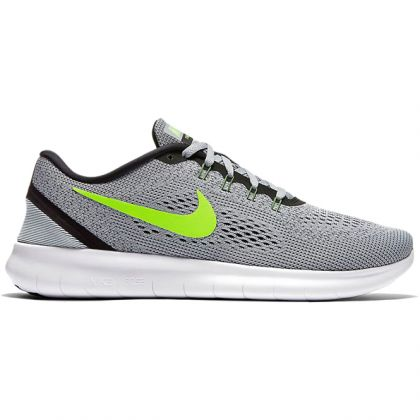 the latest 71066 fcaaa Zoom Nike Free RN Grau-Grün Herren Laufschuh