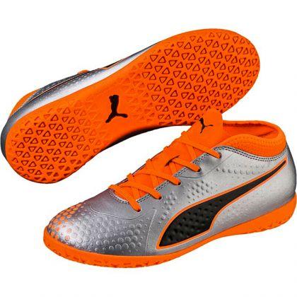 Puma One 4 Syn IT Jr Silber Orange