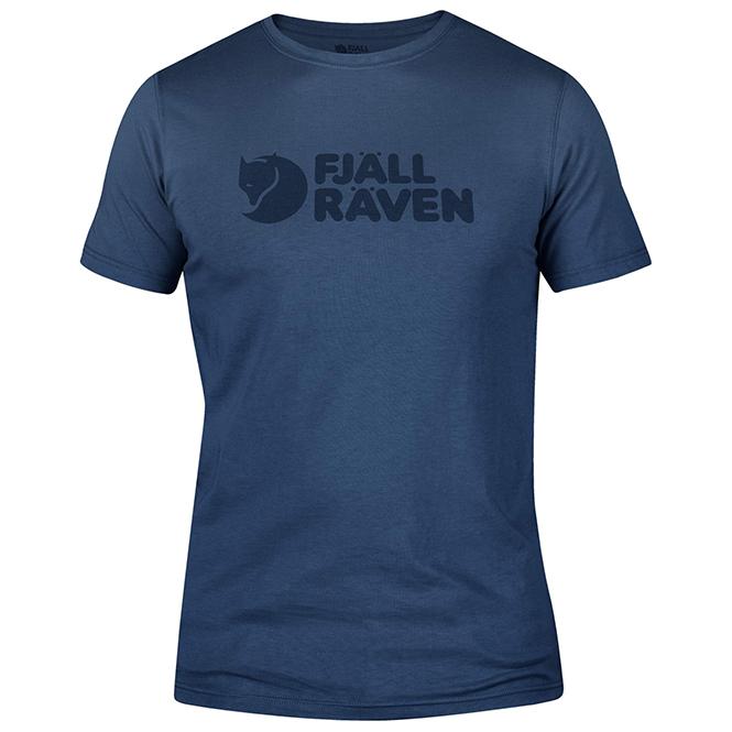 Fjällräven Logo T-Shirt Herren 2019 blau