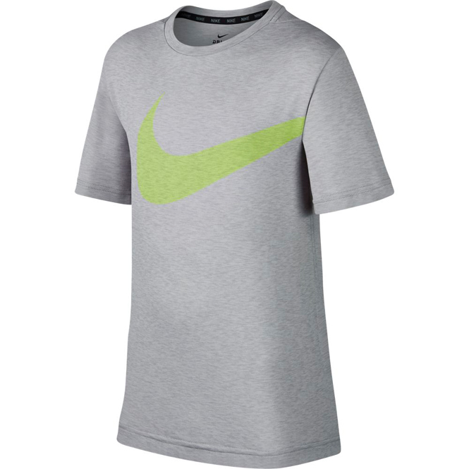 Nike Breathe Hyper Shirt Kinder Grau-Grün
