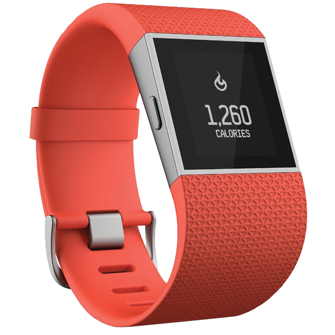 fitbit surge fitness uhr orange trends sport. Black Bedroom Furniture Sets. Home Design Ideas