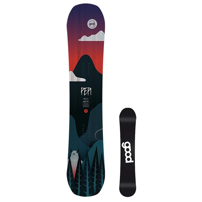 goodboards PEPI Double Rocker Snowboard für junge Fahrer