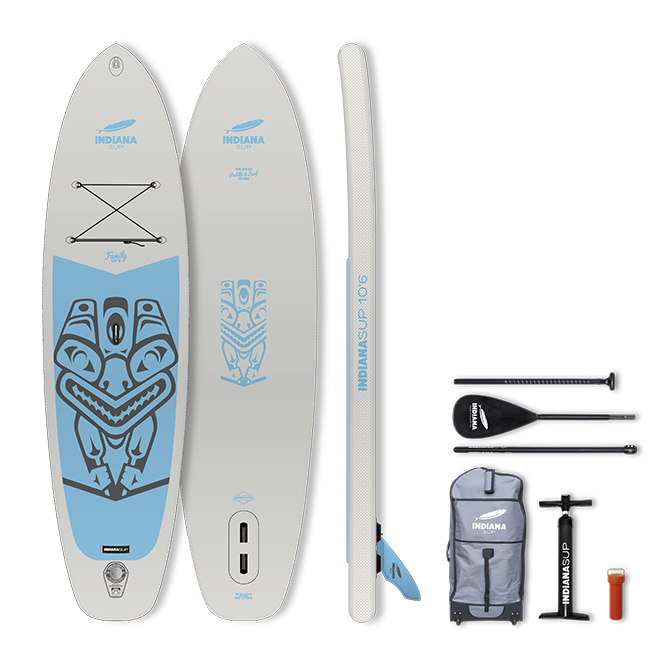INDIANA SUP 10´6 Family Pack Grau