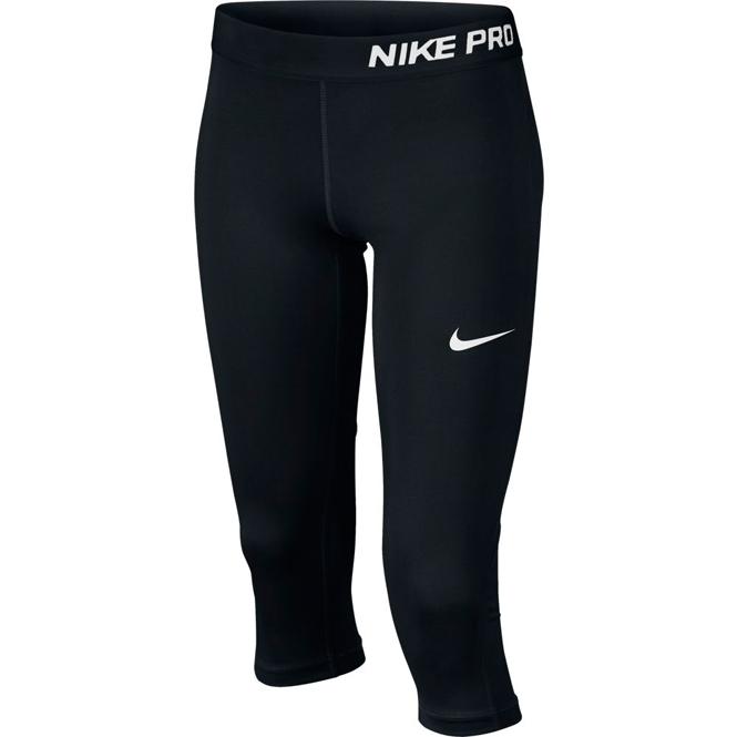 Nike Pro Caprihose Schwarz Girls