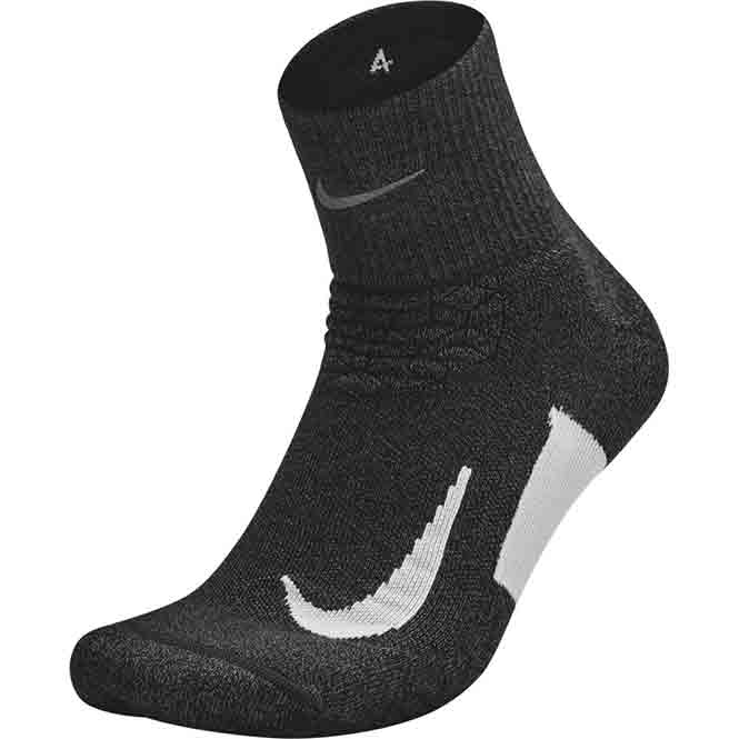 Nike Elite Cushion Quarter Socken Schwarz