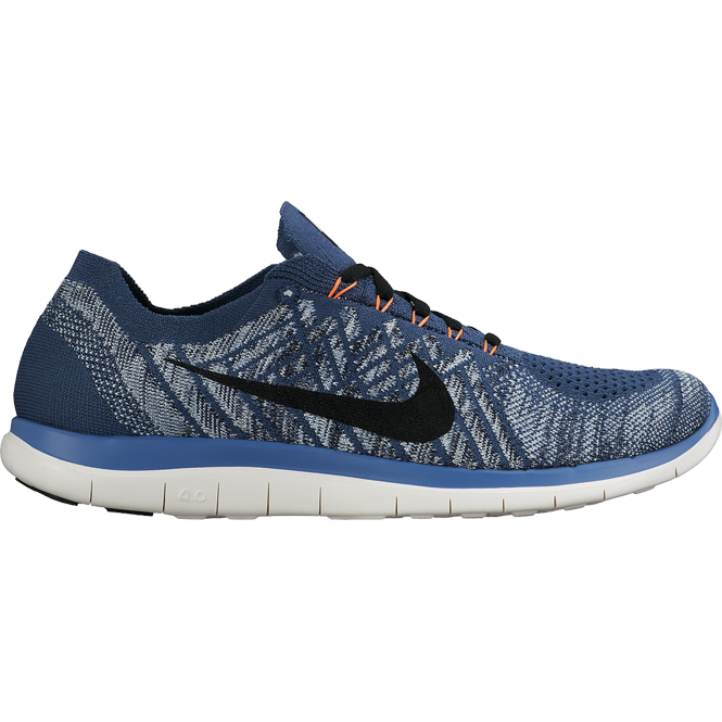 nike free 4 0 flyknit blau herren laufschuh trends sport. Black Bedroom Furniture Sets. Home Design Ideas