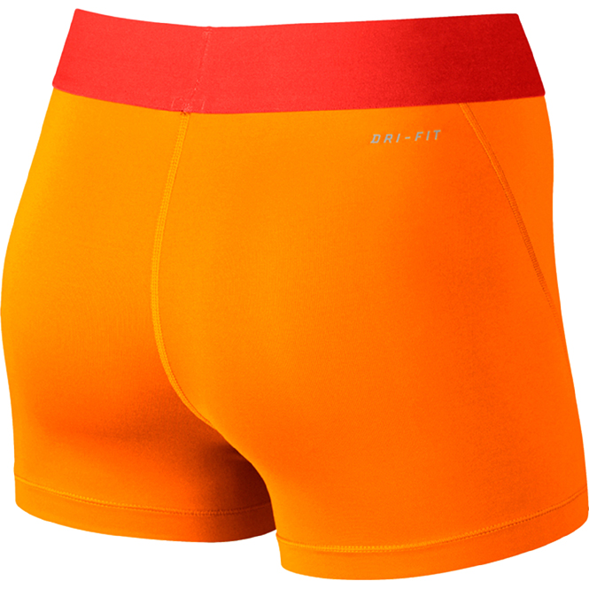 nike pro 3 cool shorts damen orange trends sport. Black Bedroom Furniture Sets. Home Design Ideas