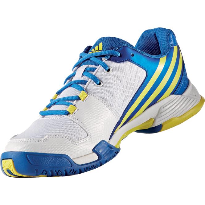 the latest 95425 1c87e Adidas Volley Team 4 Weiss-Blau-Gelb