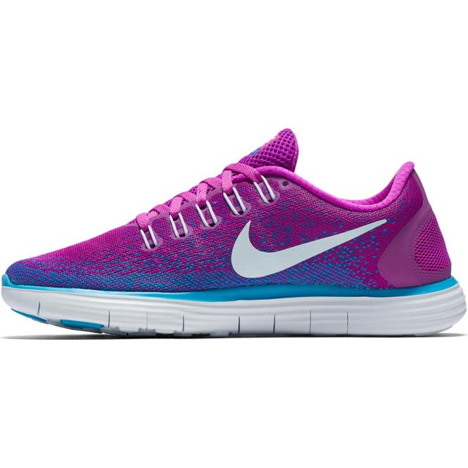 oben Nike Free RN Distance Pink Blau Damen | Trends Sport